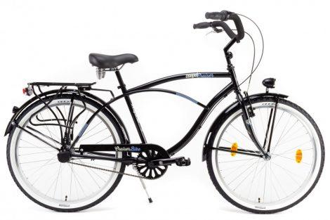 Csepel Cruiser férfi kerékpár, 3 seb. agyváltó - Fekete