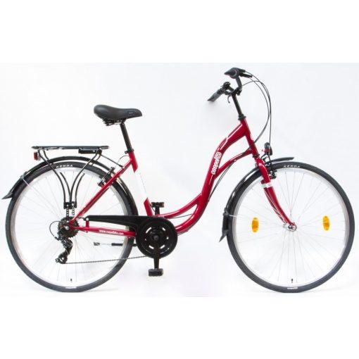 Csepel Velence kerékpár, 7 seb. - Piros