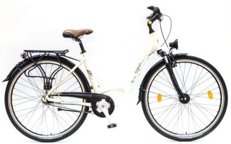"""Csepel Signo 28"""" 7 seb agyváltós kerékpár - Krém"""