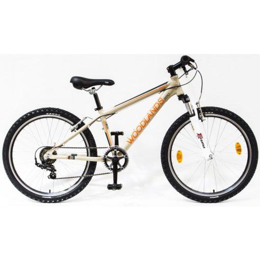 """Csepel Woodlands Zero 24"""" teleszkópos gyermek kerékpár - Homok"""