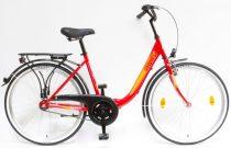 """Csepel Budapest B 26"""" felnőtt kerékpár - Piros Új szín"""