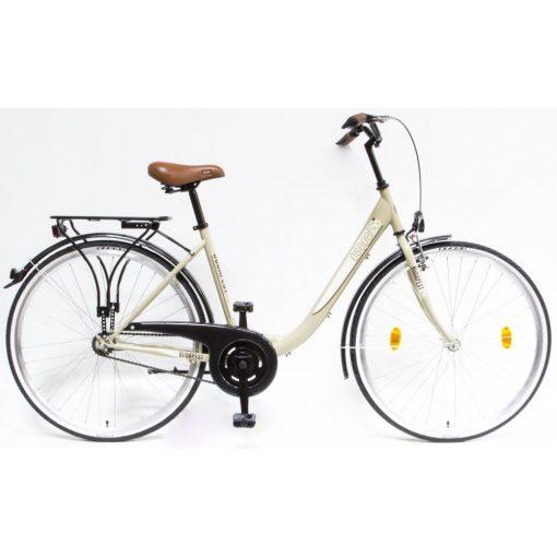 """Csepel Budapest B 28"""" felnőtt kerékpár - Drapp Új szín"""