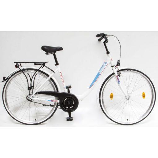 """Csepel Budapest B 28"""" felnőtt kerékpár - Fehér Új szín"""