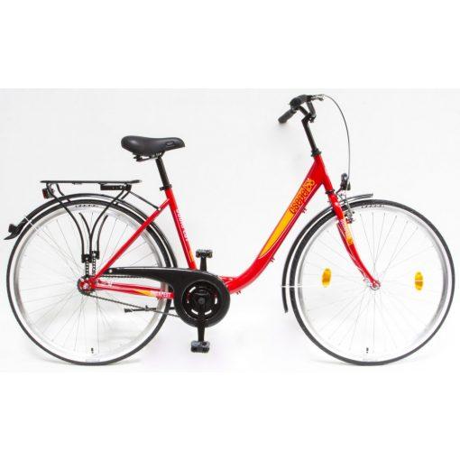 """Csepel Budapest B 28"""" felnőtt kerékpár - Piros Új szín"""