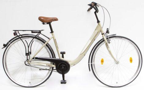 """Csepel Budapest B 28"""" felnőtt kerékpár, 3 seb. agyváltó - Drapp Új szín"""