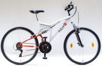 """Csepel Blackwood Fully 24"""" kerékpár - Fehér/piros"""