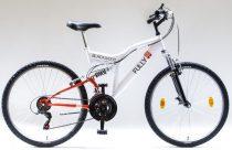 """Csepel Blackwood Fully 26"""" kerékpár - Fehér/piros"""