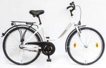 """Csepel Budapest A 26"""" felnőtt kerékpár - Fehér 2020 ÚJ SZÍN"""