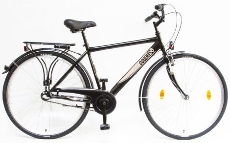 """Csepel Budapest 28"""" felnőtt Férfi kerékpár, 3 seb. agyváltó - Fekete 2020"""