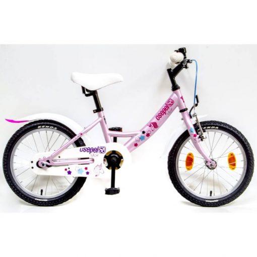 """Csepel Lily 16"""" gyermek kerékpár - Pink, unicornis mintával"""