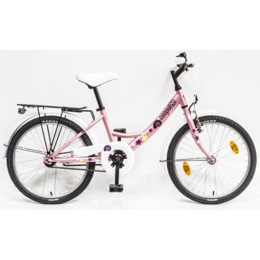 """Csepel Hawaii 20"""" gyermek kerékpár - Rózsaszín, csiga mintával"""