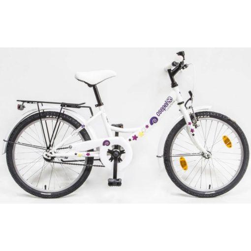 """Csepel Hawaii 20"""" gyermek kerékpár - Fehér, csiga mintával"""