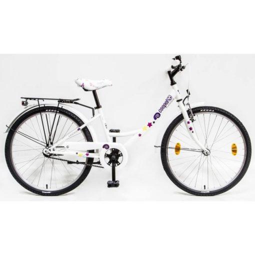 """Csepel Hawaii 24"""" gyermek kerékpár - Fehér, csiga mintával"""
